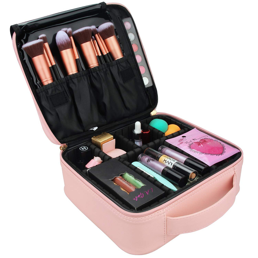 pink makeup case
