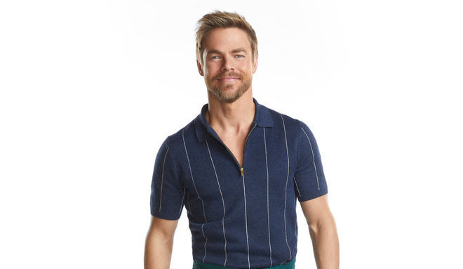Derek hough blue shirt