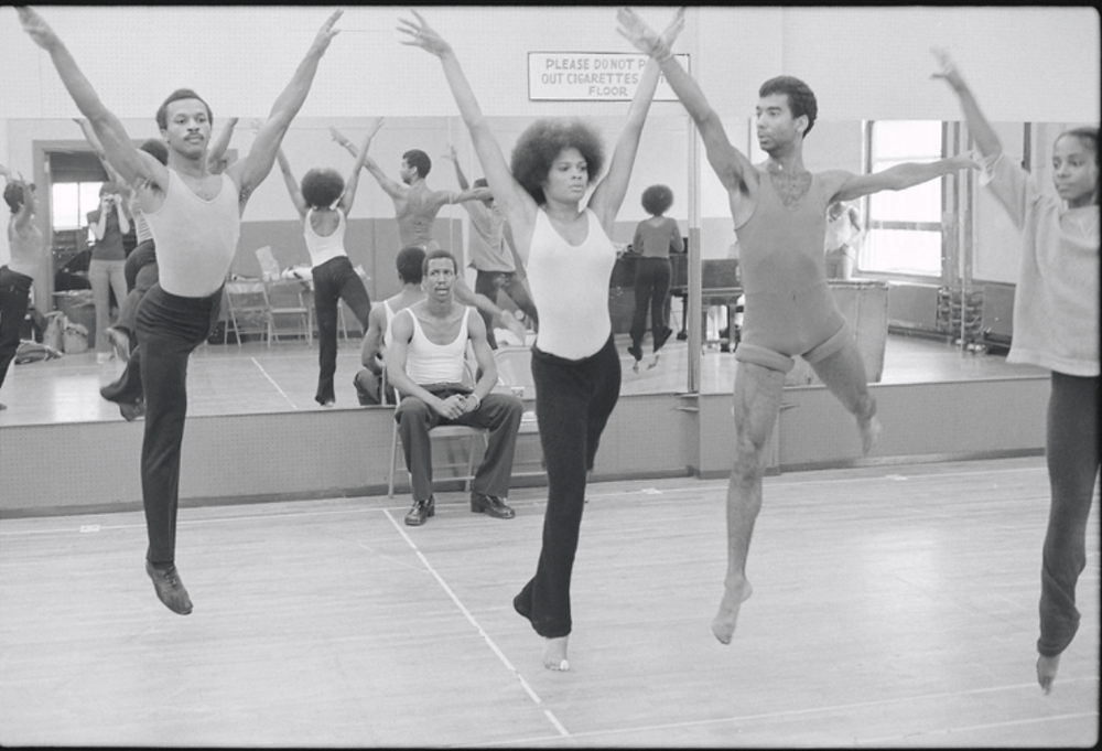 Choreographer George Faison directing dancers during rehearsal for the stage production The Wiz in 1974.