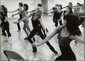 Choreographer Gillian Lynne directing dancers for the 1982 production of Cats.