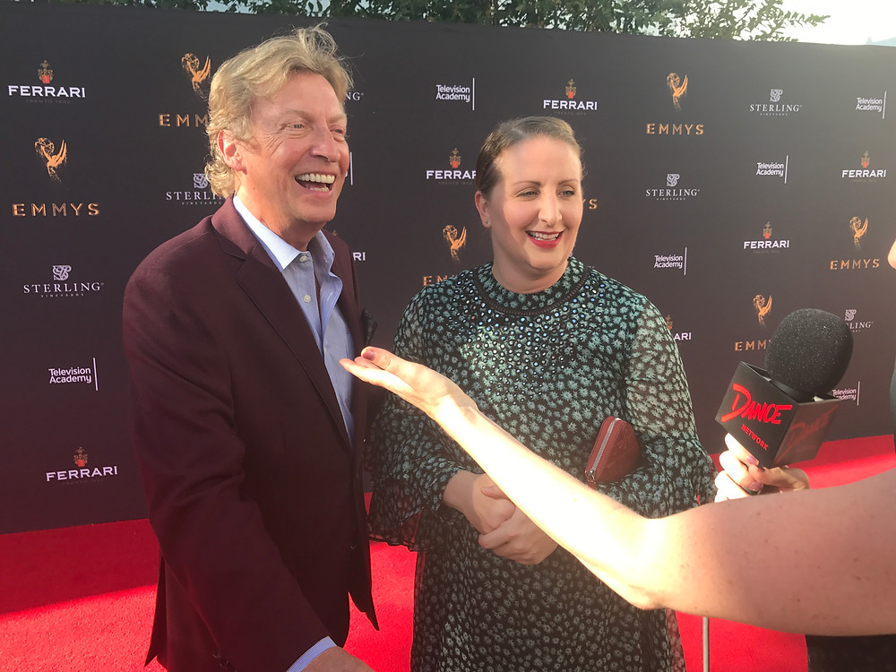 Nigel Lythgoe and Mandy Moore
