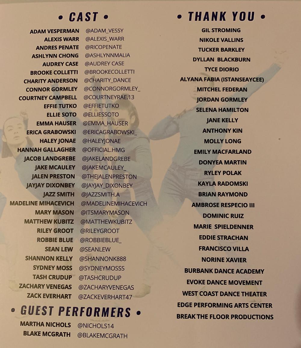 Cast, Unity LA, Dancerpalooza 2019
