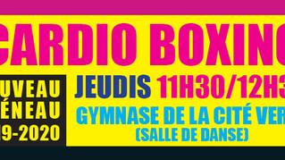 NOUVEAU : Cardio Boxing avec MARION