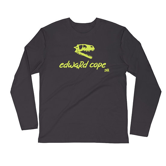 Men's Long Sleeve Fitted Crew (Neon Yellow)