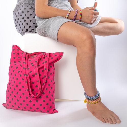 """Easy-Bags"" pink/grau Dots Cord"