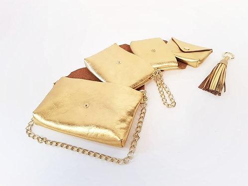 """Babuschka""-Täschchen gold"
