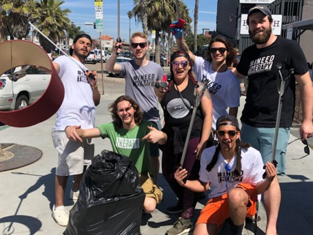 GROUP THERAPY, GIVING BACK | PACIFIC BEACH, STREET CLEANUP