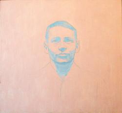 Isä,31,5x33,8cm,öljyväri,2000