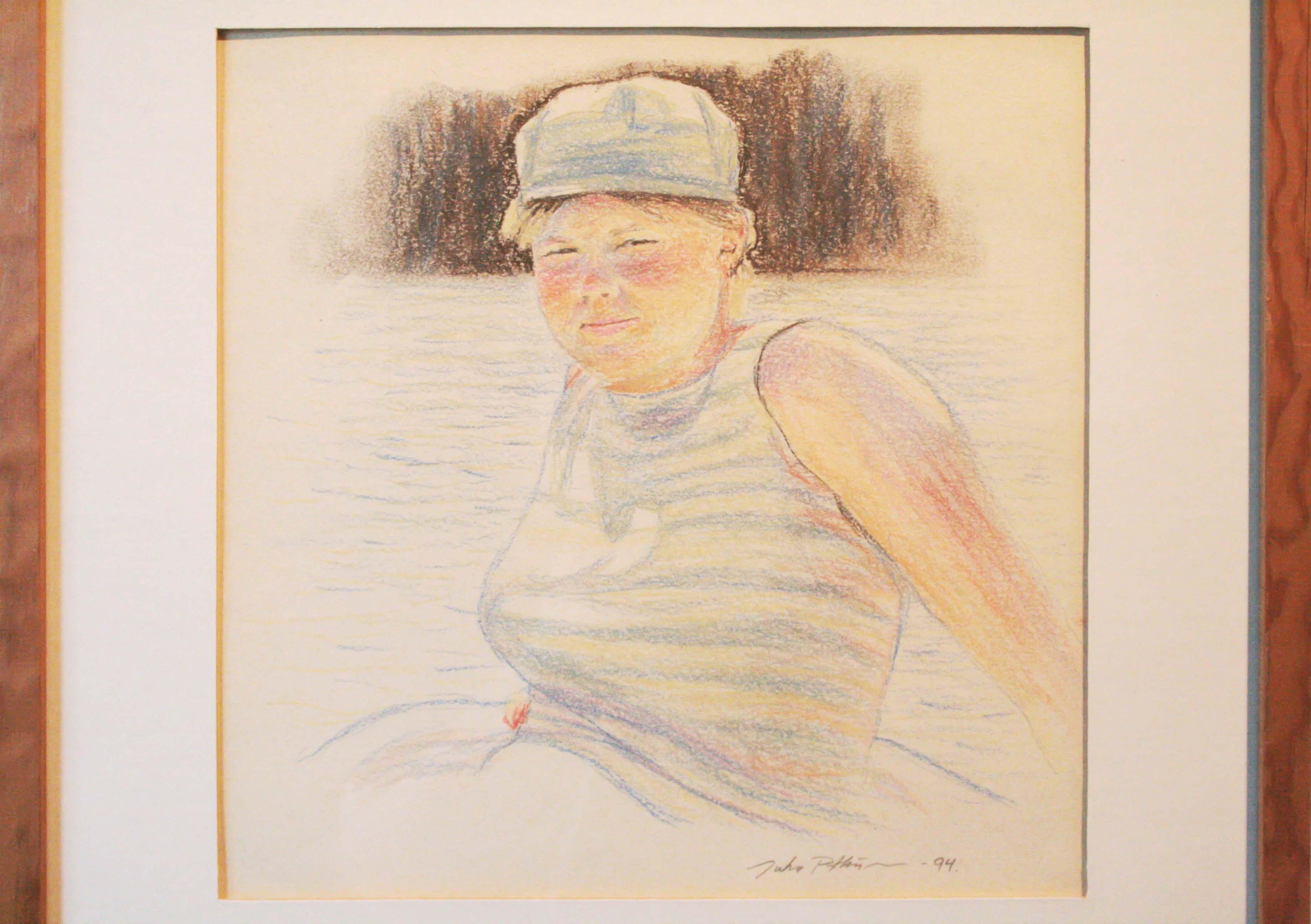Kirsi,27x27cm,paperi,kuivapastelli,1994