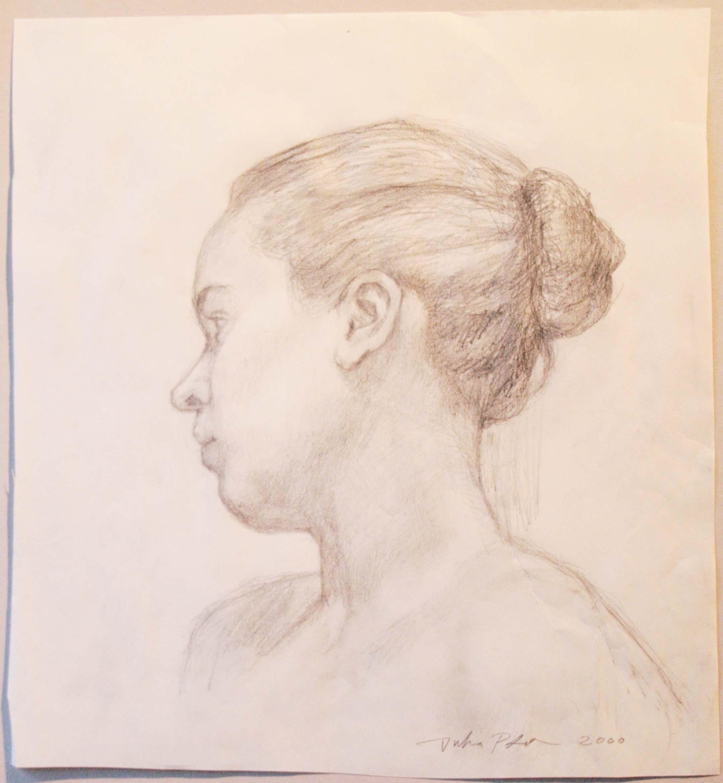 Aino,29x26,5cm,lyijykynä,2000