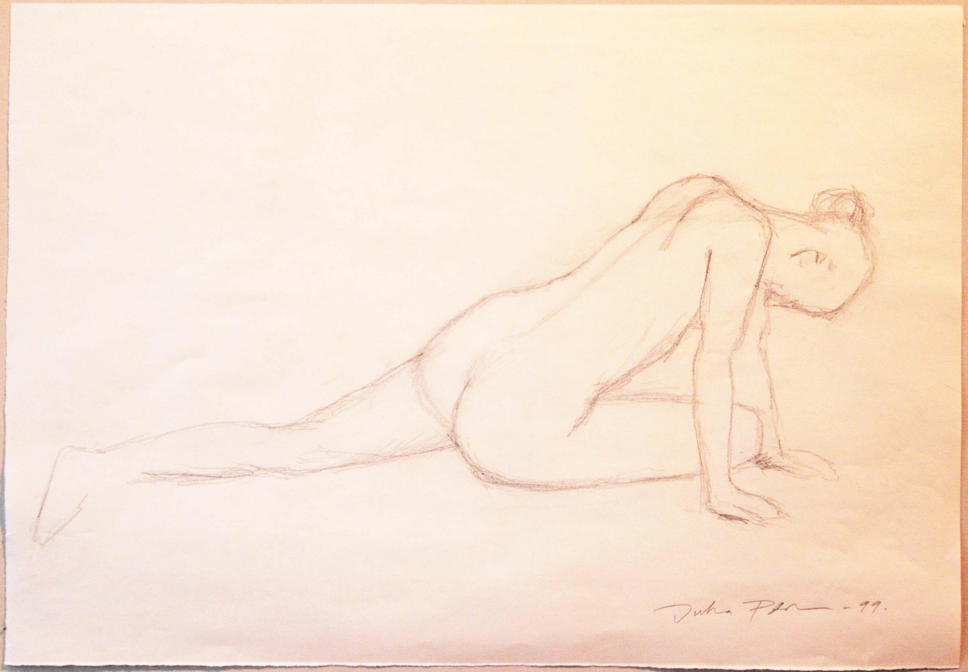 Croquis,25,7x37cm,lyijykynä,1999