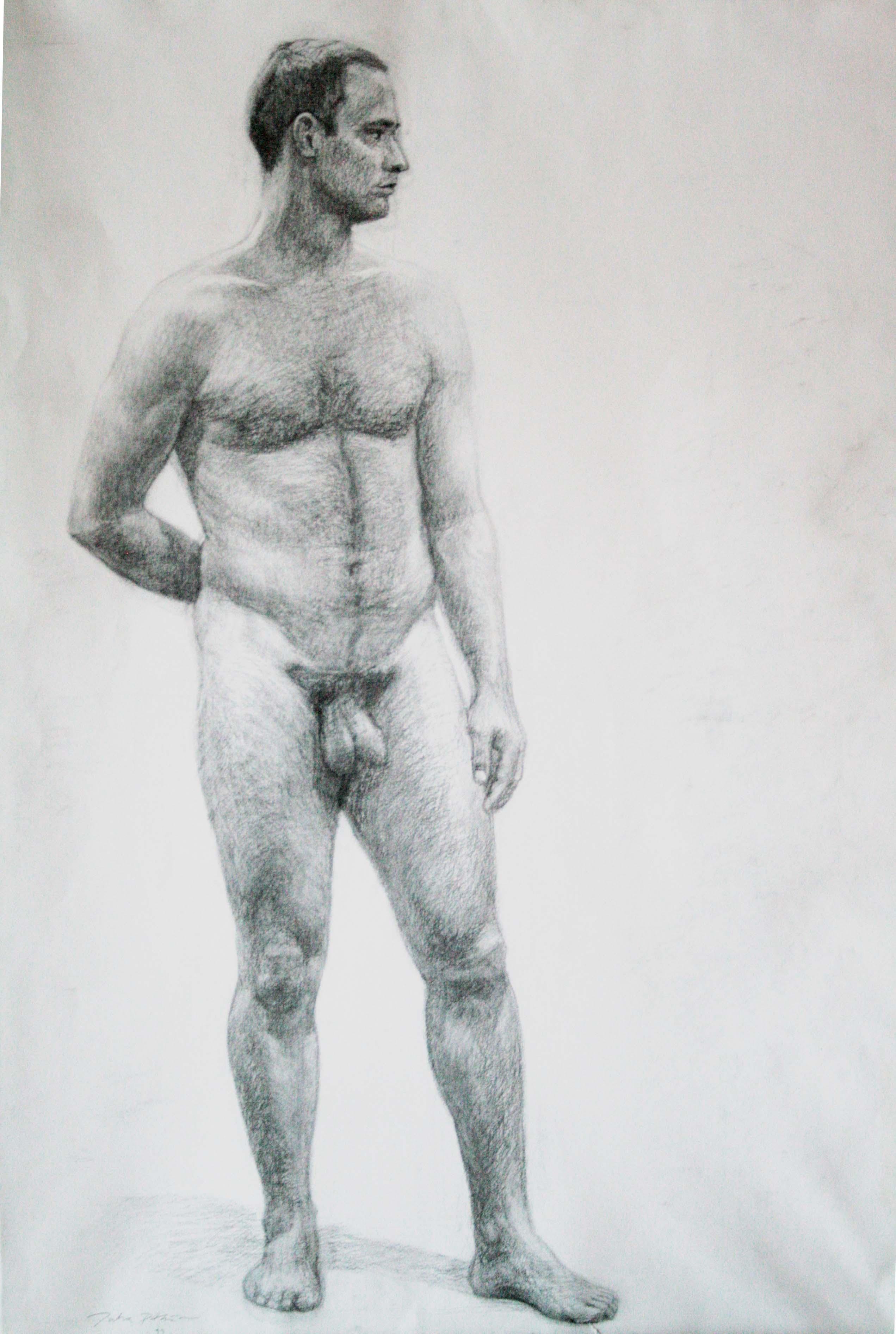 Mallipiirustus,106x76cm,litoposteri,hiili,2000