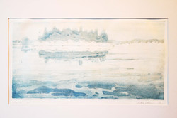 Talvimaisema,22,3x41,4cm,kuivaneula,etsaus,1995