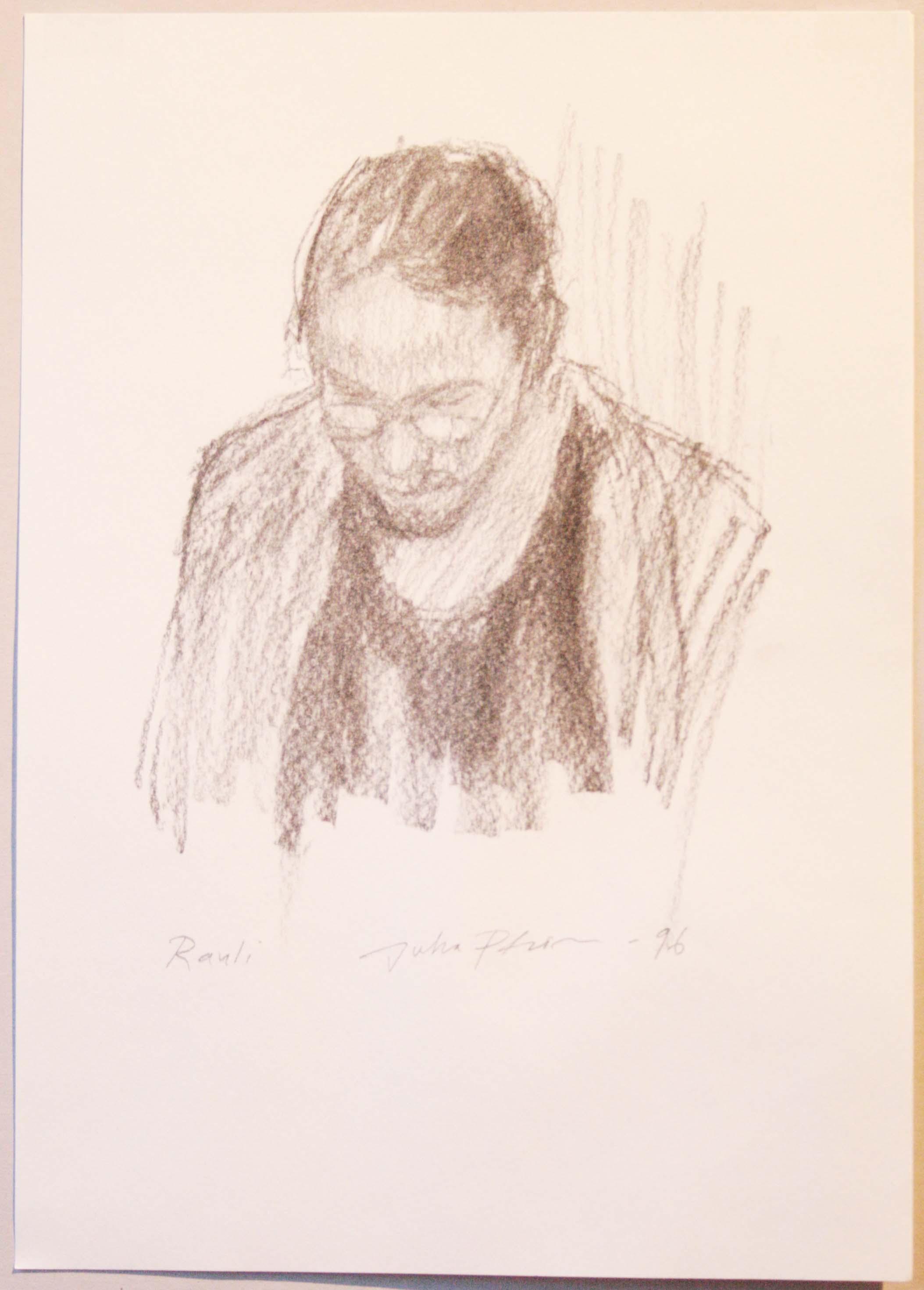 Rauli,29,5x20,5cm,hiili,1996