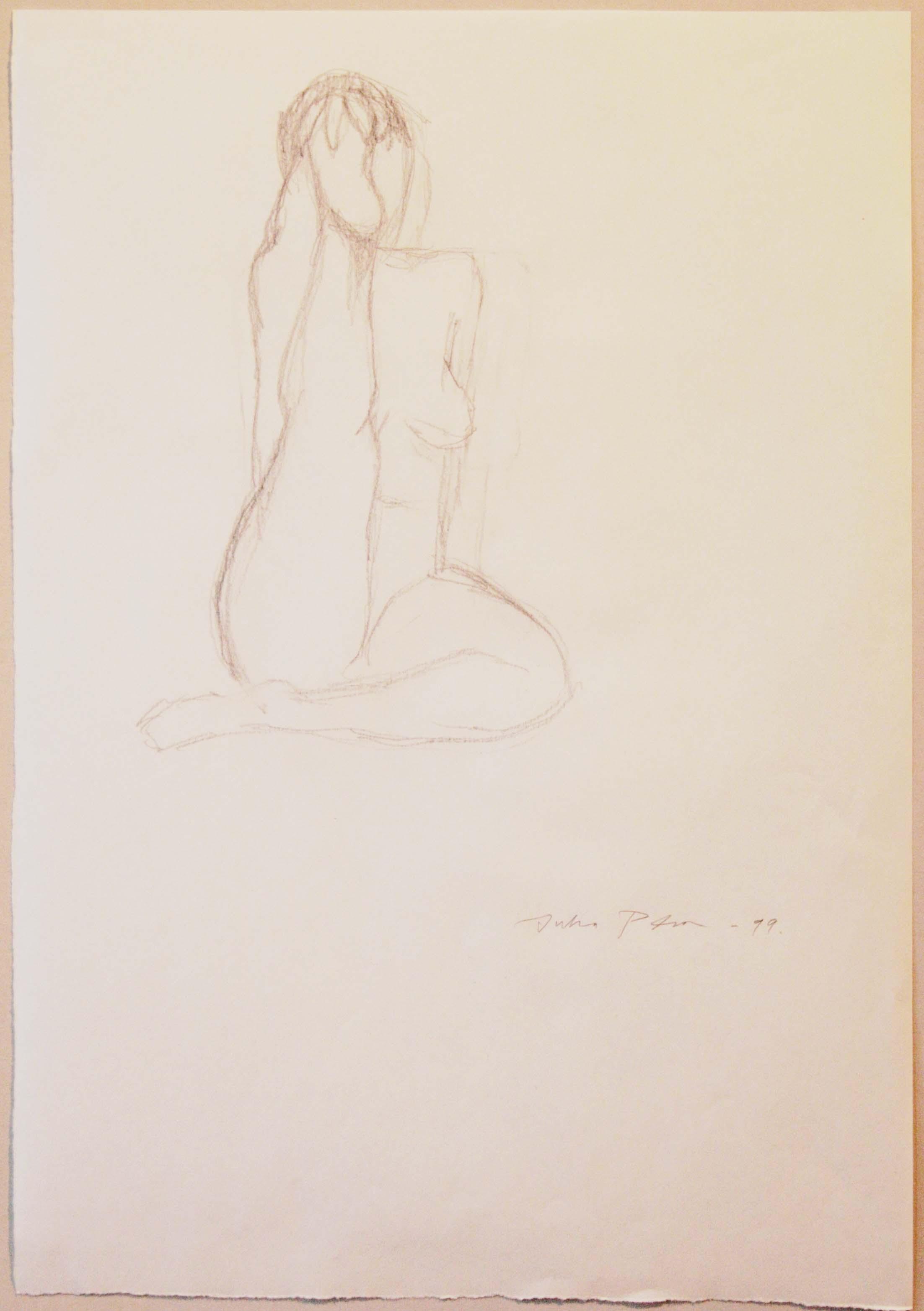 Croquis,37x25,5cm,lyijykynä,1999