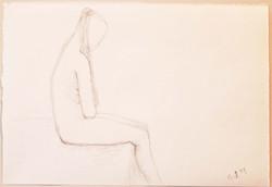 Croquis,18x26cm,lyijykynä,1999