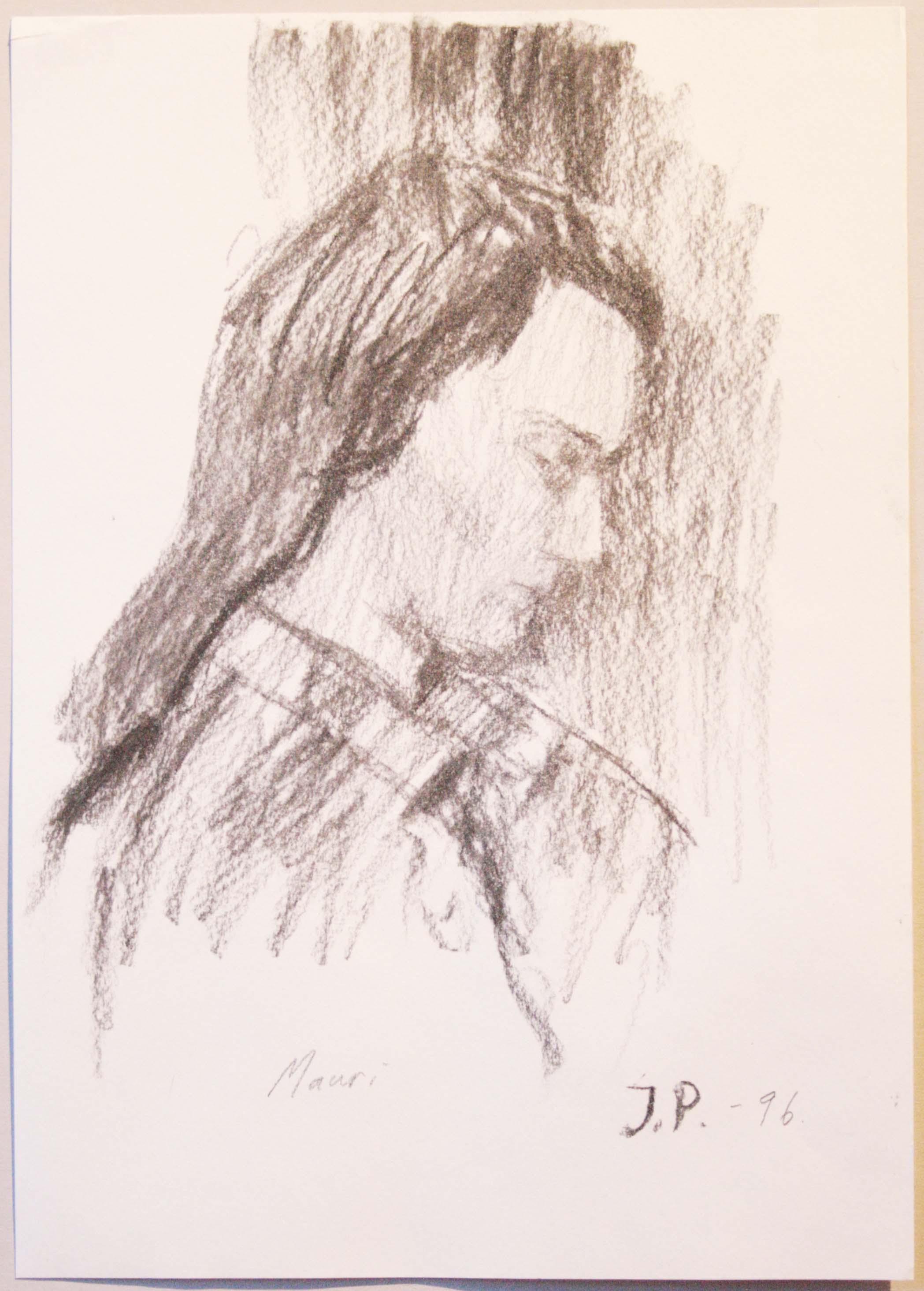 Mauri,29,5x20,5cm,hiili,1996