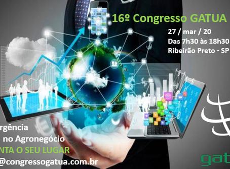 Já está sendo preparado o 16º Congresso GATUA 2020