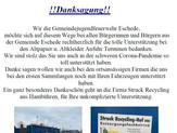 """Die Gemeindejugendfeuerwehr Eschede möchte """"Danke sagen"""""""