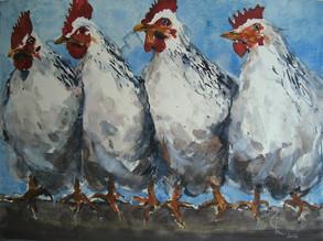 …und morgens auch mal zwei, 2006 45 x 32 cm, Aquarell