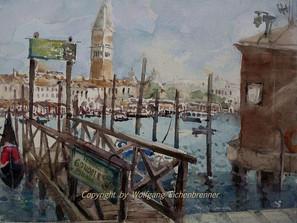 Am Canal Grande 2014 45 x 32 cm Aquarell