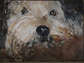 Erwartung, 2009 45 x 32 cm Aquarell