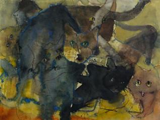 Miez Miez, 2009 45 x 32 cm Aquarell