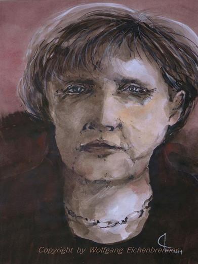 Angie, 2014 30 x 43 cm Tusche-Feder, aquarelliert