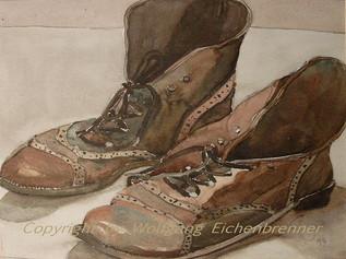 Monis Stiefel, 1997 36 x 26 cm Aquarell