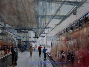 Hauptbahnhof I, Stuttgart, 2012 45 x 32 cm Aquarell