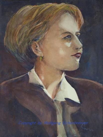 Junge Frau, 2013 32 x 45 cm Aquarell