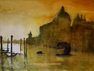 Einfahrt in den Canal Grande, Venedig, 2016 76 x 56 cm Aquarell