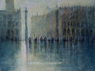 Piazetta, Venedig, 2016, 45 x 32 cm, Aquarell