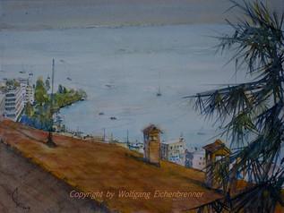 Blick auf den Lago, Locarno, 2013 45 x 32 cm Aquarell13 45 x 3