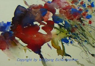Blau und Rot, 2013 45 x 32 cm Aquarell
