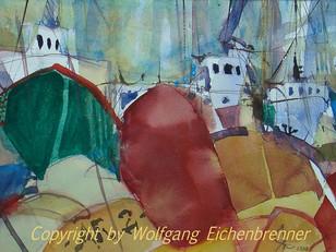 Im Hafen, 2008 28 x 20 cm Aquarell