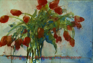 Tulpenstrauß, 2013 46 x 34 cm Aquarell