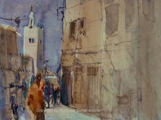 In den Gassen von Taroudannt, Marokko, 2012 45 x 32 cm Aquarell