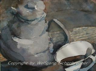 Kaffeepause, 2007 36 x 26 cm Aquarell
