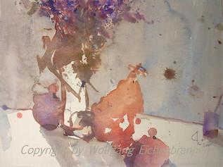 Lila Versuchung, 2005 45 x 32 cm Aquarell