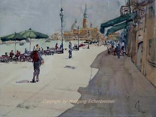 Unterwegs auf der Giudecca 2014 45 x 32 cm Aquarell