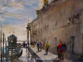 Bei der Dogana, Venedig 2014 45 x 32 cm Aquarell