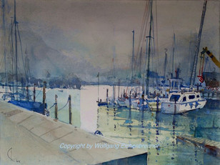 Gstadt IV, Chiemsee, 2015, 45 x 32 cm, Aquarell