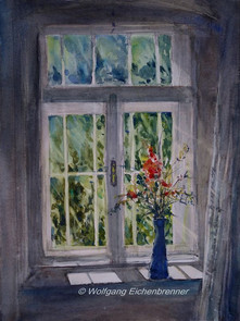 Am Fenster, Aquarell