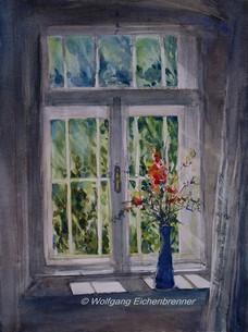 Am Fenster, Aquarell
