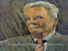 Gauck, 2014 45 x 32 cm Aquarell