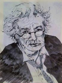 Horst Janssen, 2014 54 x 45 cm, Tusche-Feder, aquarelliert