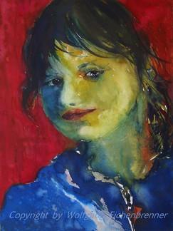 Lisa, 2013 32 x 45 cm Aquarell
