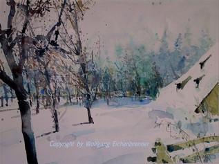Frischer Schnee 2001 48 x 31 cm Aquarell