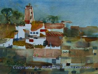 Erinnerung an Marokko, 2013 32 x 32 cm Aquarell